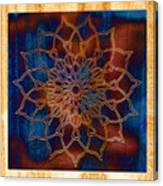 Wooden Mandala Canvas Print