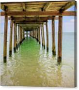 Wooden Pier Stretching Into The Sea Canvas Print