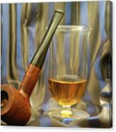 Wooden Pipe And Glass Of Malt Whiskey 2 by Gady Cojocaru