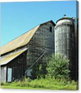 Wooden Silo Canvas Print