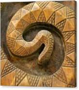 Wooden Snake Canvas Print