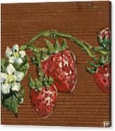 Wooden Strawberries Canvas Print
