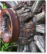 Wooden Wagon Wheel Canvas Print