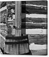 Wooden Water Barrel Canvas Print
