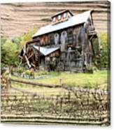 Wooden Water Mill Canvas Print