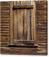 Wooden Window Canvas Print