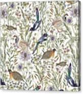Woodland Edge Birds Canvas Print