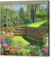Woodland Garden In A Small Town Canvas Print
