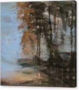 Woodlands At The Lake Canvas Print