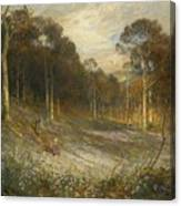Woodlands Gay With Lady Smocks Canvas Print