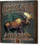 Woodlands Moose Canvas Print