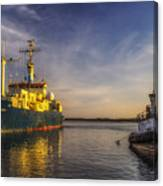 Woods Hole Ship Yard Canvas Print
