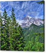 Woods Surrounding Mt. Rainier Canvas Print
