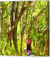 Woods Walk Canvas Print