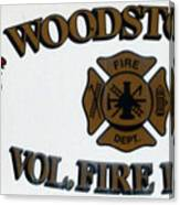 Woodstock Fire Dept Canvas Print