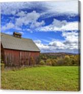 Woodstock Vermont Old Red Barn In Autunm Canvas Print