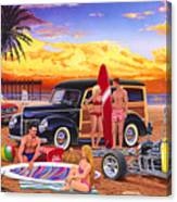 Woody Beach Canvas Print