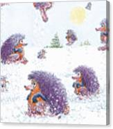 Woolly Snow Hoppers Canvas Print