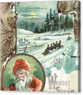 Woolson Spice Company Christmas Card Canvas Print