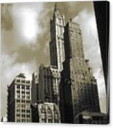 Old New York Photo - Historic Woolworth Building Canvas Print