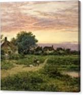 Worcestershire Cottages Canvas Print