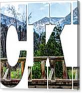 Word Art...the Rockies Canvas Print