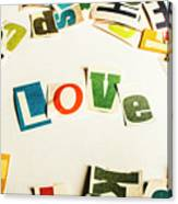 Word Of Love Canvas Print