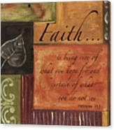 Words To Live By Faith Canvas Print