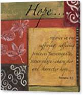 Words To Live By Hope Canvas Print