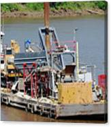 Work Barge Canvas Print