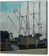 Work Boat At Rest Canvas Print