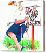 Work For Justice - Mmwfj Canvas Print