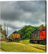 Work Horse Trains 3 Madison Georgia Locomotive Art Canvas Print