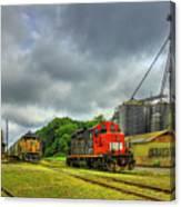 Work Horse Trains 7 Madison Georgia Locomotive Art Canvas Print