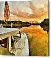 Workboats On San Damingo Creek Canvas Print