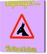 Working Bigstock Donkey 171252860 Canvas Print