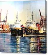 Working Boats -seattle  Canvas Print