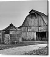 Working Farm Barn And Storage Bin Canvas Print