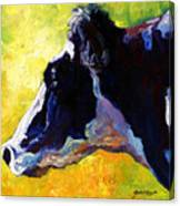 Working Girl - Holstein Cow Canvas Print