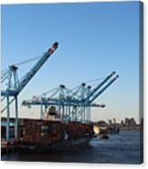 Working The Port Of New Orleans Canvas Print