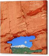 World-famous Pikes Peak Framed By What We Call The Keyhole  Canvas Print