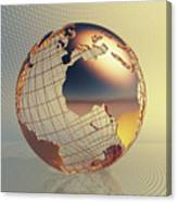 World Global Business Background Canvas Print