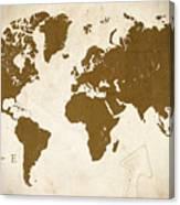World Grunge Canvas Print
