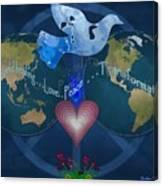 World Healing Inspirational Canvas Print