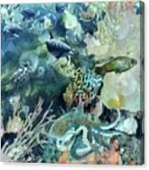 World In The Sea Canvas Print