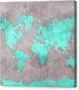 World Map 39 Canvas Print