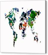 World Map 8b Canvas Print