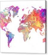 World Map Art Canvas Print