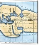 World Map: Eratosthenes Canvas Print