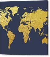 World map gold foil digital art by michael tompsett world map gold foil canvas print gumiabroncs Gallery